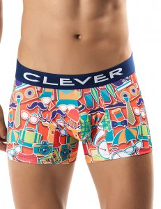 Clever Necktie Boxer Brief Underwear Orange 2239