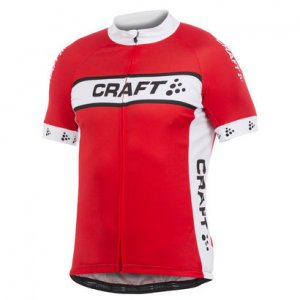 Craft Active Bike Logo Short Sleeved T Shirt Bright Red 1900696