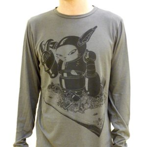 Wade1 Vancouver Citycrusher Cut & Sew Long Sleeved T Shirt Grey LSG-004