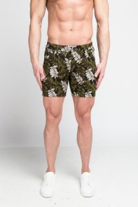 ST33LE Leaves Stretch Knit Shorts Green STL1936