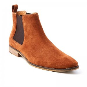 Croft Camden Shoes Saddle Suede FLP698