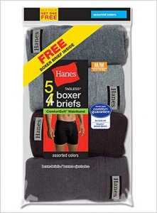 Hanes [10 Pack] Comfort Soft Boxer Brief Underwear Assorted ...