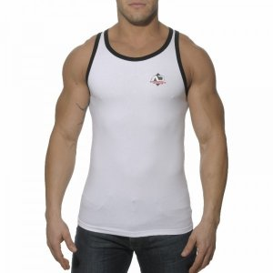 Addicted Boxing Sport Tank Top T Shirt White AD176
