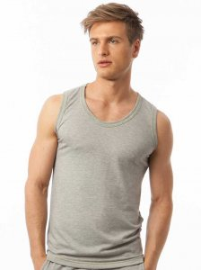 N2N Bodywear Basic Gym Muscle Top T Shirt Heather BG12