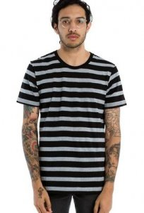 AS Colour 2-Tone Stripe Short Sleeved T Shirt 5017
