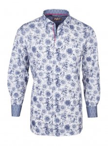 Spazio Raaz Long Sleeved Shirt Navy 3-S-1883