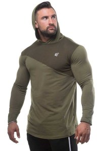 Jed North 2 Tone Pullover Long Sleeved Hoodie Sweater Green