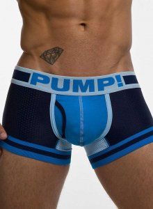 Pump! Touchdown True Blue Boxer Brief Underwear Light Blue/Navy Blue 11056