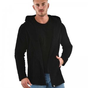 Roberto Lucca Textured Hooded Cardigan Black 90272-00320