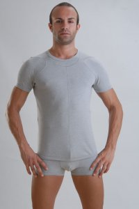 Geronimo Short Sleeved T Shirt Grey Bamboo 959T7