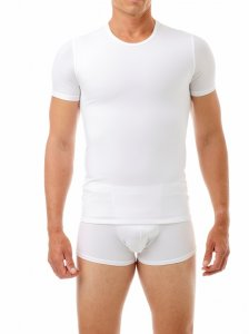 Underworks Shapewear Microfibre Concealer Compression Short Sleeved T Shirt White 998100