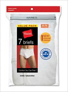 Hanes [14 Pack] Solid Brief Underwear White V-2252-P7