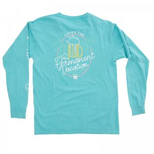 Party Pants Neon Long Sleeved T Shirt Caribbean PM191108