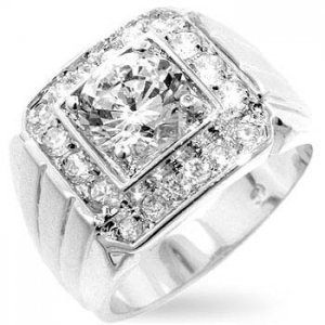 J Goodin CZ Men's Ring R07308N-C01