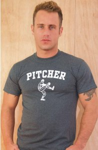 Ajaxx63 Regular Fit Pitcher Short Sleeved T Shirt Charcoal RF01