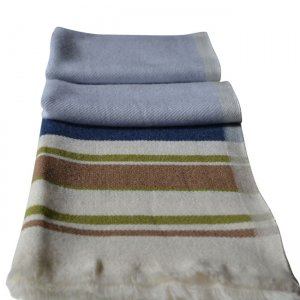 Charles Owo Cashmere Scarf Cream/Taupe/Blue 1292330
