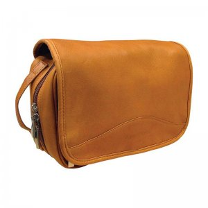 Asdrumark Leather Large Hanging Wash Bag Tan AM092
