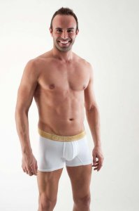 Geronimo Contour Boxer Brief Underwear White 1362B7