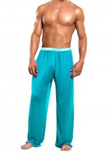 Magic Silk Silk Knit Lounge Pants Turquoise 1886