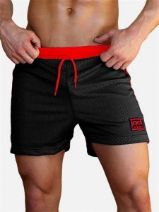 Jack Adams Air Mesh Gym Shorts Black/Red 402-105