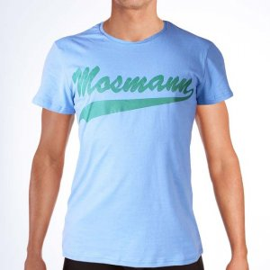 Mosmann Scoop Short Sleeved T Shirt Air Blue ST3200