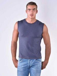 Roberto Lucca Slim Fit Muscle Top T Shirt Jeans Blue Melange 80004-80034