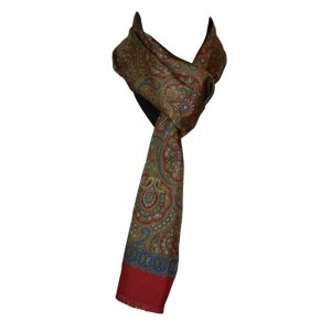 Charles Owo Franconi Paisley Scarf Red 1296023