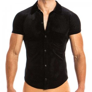 Modus Vivendi Wolf Jock Short Sleeved Shirt Black 17841