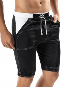 Clever Guarulhos Long Trunk Shorts Swimwear Black 0597