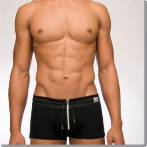 Modus Vivendi Modern Zipper Boxer Brief Underwear Black 02922