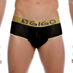 Gigo SEXY BLACK Brief Underwear G01086-BLACK