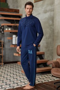 Doreanse Squares Zipper High Neck Long Sleeved T Shirt & Side Stripe Pants Set Loungewear 4659