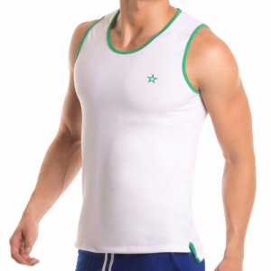 Jor LONDON Tank Top T Shirt WHITE 0294