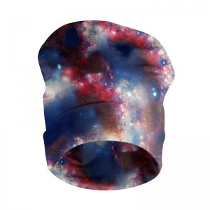 Mr. Gugu & Miss Go Red Blue Nebula Unisex Beanie UB068