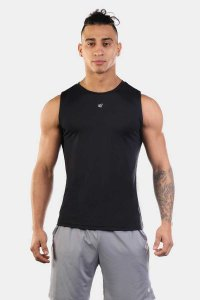 Jed North Synergy Muscle Top T Shirt Black JNTOP026