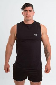 Twotags Charge Muscle Top T Shirt Black