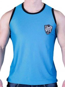 Good Boy Gone Bad VI9 Rigis Mesh Muscle Tank Top T Shirt Dark Blue