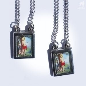 CA-RIO-CA Scapular Saint Sebastian Necklace Color CRC-N1006