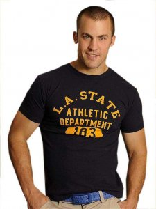 Good Boy Gone Bad LA State Athletic Dept Short Sleeved T Shirt Navy
