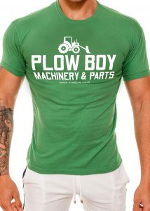 Ajaxx63 Plow Boy Athletic Fit Short Sleeved T Shirt Green AS40