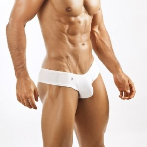 Joe Snyder Bulge Mini Cheek Boxer Brief BUL06 White Underwear & Swimwear