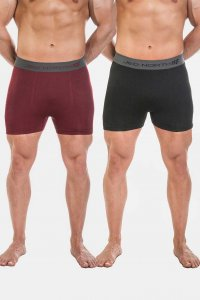Jed North [2 Pack] Fusion Seamless Boxer Brief Underwear Bla...