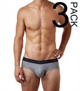 2(x)ist [3 Pack] Cotton Contour Pouch Brief Underwear Black/...