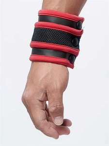 Mister B Neoprene Wrist Wallet Armband Black/Red 341030