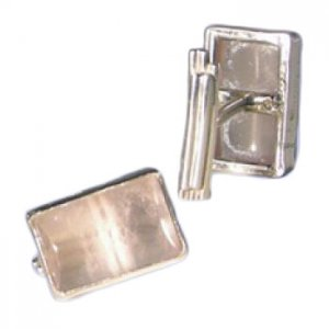 Metro Mod Man Transparent Cufflink Jewelry Rose