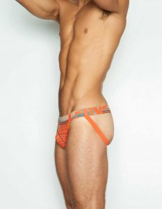 C-IN2 Oxide Jock Strap Underwear B-Ball Orange Leaf 5326-805