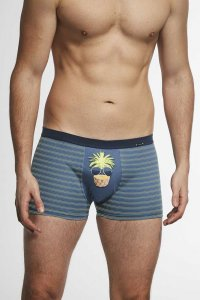 Cornette Tattoo Crazy 280/165 Boxer Brief Underwear Navy Blu...