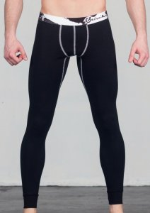Geronimo Long Johns Long Underwear Pants Black 1664J6-1