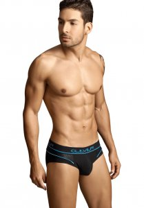 Clever Cotton Mesh Brief Underwear Black/Blue 5080