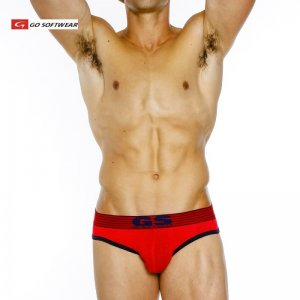 Go Softwear Pop Volt Reveal Jock Brief Jock Strap Underwear Red/Navy 2250